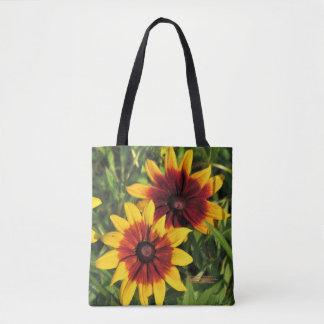 Gloriosa Daisies Mahogany Center Tote Bag