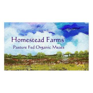 Glorious Abstract Landscape Art Farm Barn House Business Cards