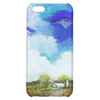 Glorious Abstract Landscape Art Farm Barn House iPhone 5C Covers