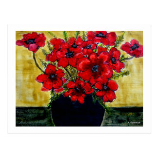 Glorious Anemones designed by Aggelikis Postcards