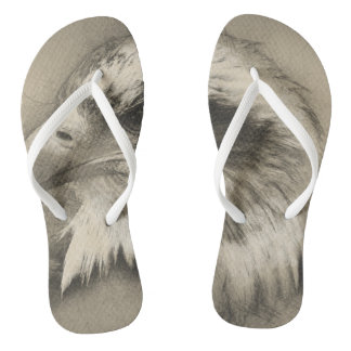 Glorious Bald Eagle Setch Flip Flops