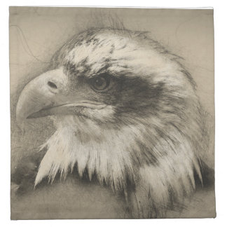 Glorious Bald Eagle Setch Napkin