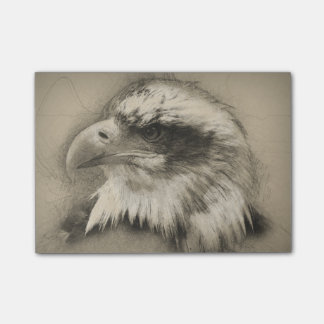 Glorious Bald Eagle Setch Post-it Notes