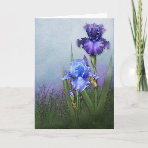 Glorious Bearded Irises II Card