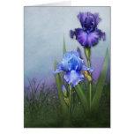 """Glorious Bearded Irises II"" Card"