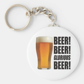 Glorious Beer. Basic Round Button Keychain