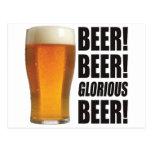 Glorious Beer. Post Card