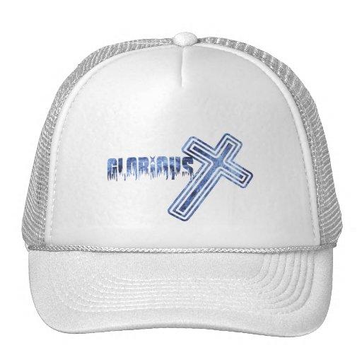 Glorious Bleu Mesh Hats