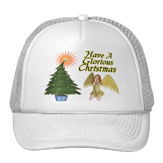 Glorious Christmas Angel Trucker Hat