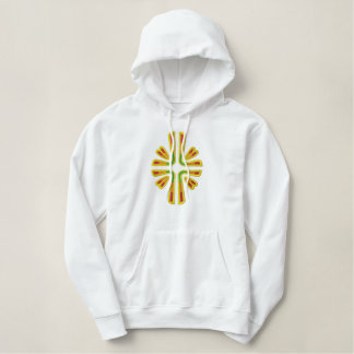 Glorious Cross Embroidered Hoodie