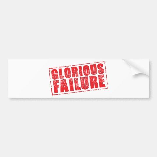 Glorious Failure rubber stamp image Bumper Sticker