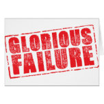 Glorious Failure rubber stamp image Greeting Card