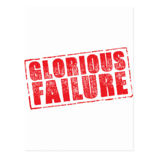 Glorious Failure rubber stamp image Postcard