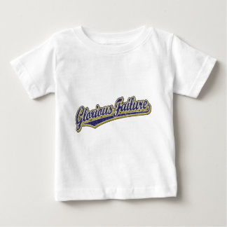 Glorious Failure script logo in blue distressed Baby T-Shirt