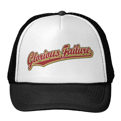 Glorious Failure script logo in red Hats