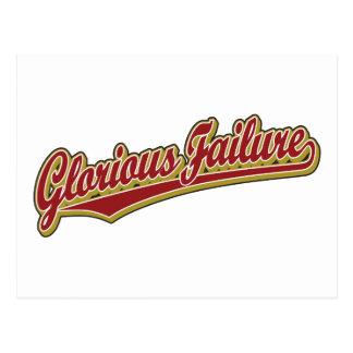Glorious Failure script logo in red Postcard