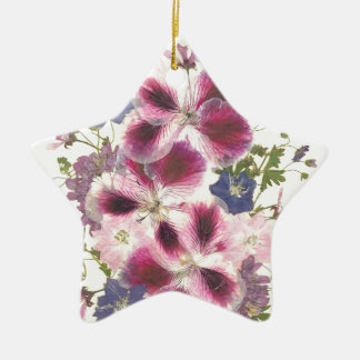 Glorious Floral Ceramic Ornament