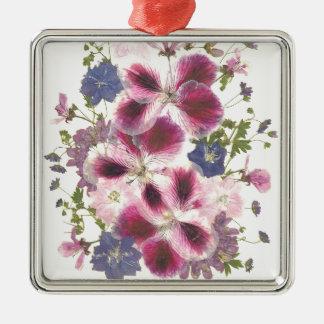 Glorious Floral Metal Ornament