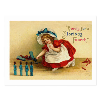 Glorious Fourth of July Greeting Cards Postcard