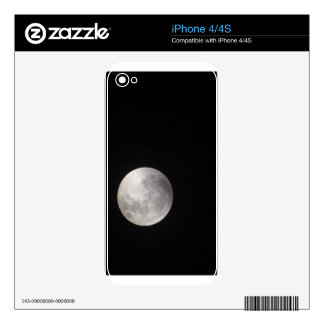 GLORIOUS FULL MOON iPhone 4 DECAL
