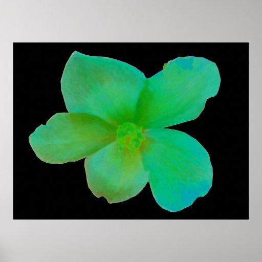 Glorious Green Begonia Print