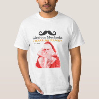 Glorious Mustache Hall-of-Fame Santa Claus T Shirt