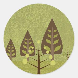 Glorious Nature Wedding Seal Classic Round Sticker