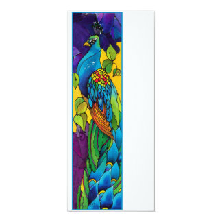 "Glorious Peacock Art Invitation 4"" X 9.25"" Invitation Card"
