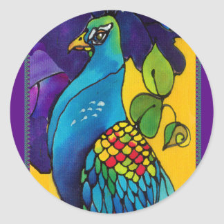 Glorious Peacock Art Stickers tags