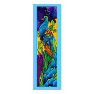 Glorious Peacock Business Card Template