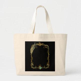 Glorious Peacock Canvas Bag