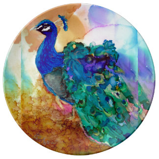 Glorious Peacock Dinner Plate