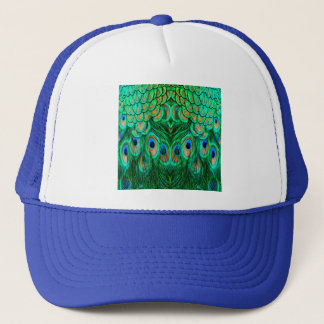 Glorious Peacock Feathers Trucker Hat