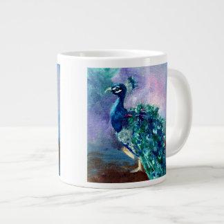 Glorious Peacock II Giant Coffee Mug