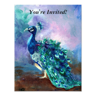 Glorious Peacock II 4.25x5.5 Paper Invitation Card