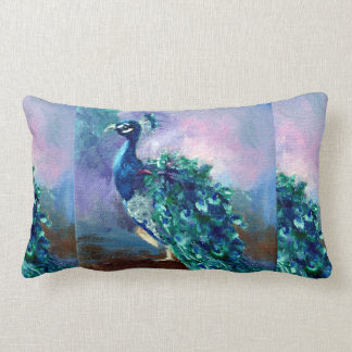 Glorious Peacock II Lumbar Pillow