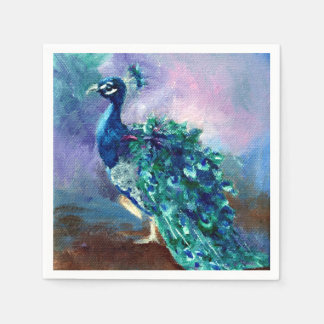 Glorious Peacock II Disposable Napkin