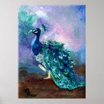 Glorious Peacock II Poster