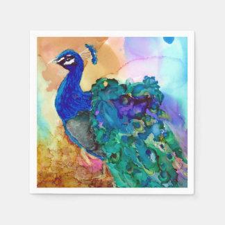 Glorious Peacock Disposable Napkins