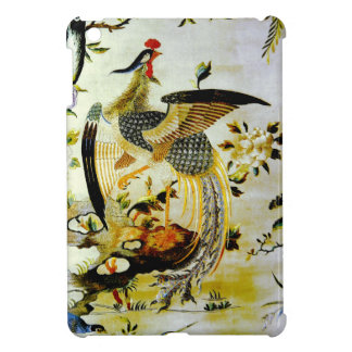 Glorious phoenix antique Chinese embroidery Case For The iPad Mini