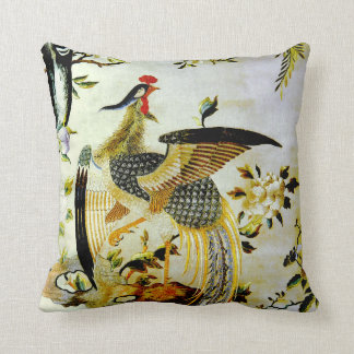 Glorious phoenix antique Chinese embroidery Pillow