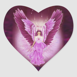 Glorious Pink Angel Love Stickers