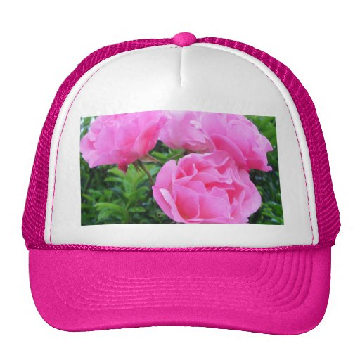 Glorious pink Roses Trucker Hats