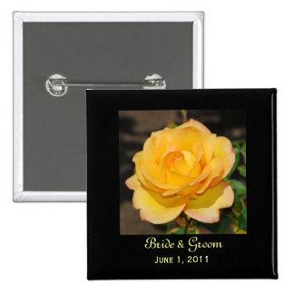 Glorious Rose Bride & Groom Button