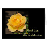 Glorious Rose Interview Thank You Card
