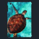 "Glorious Sea Turtle iPad Mini Case<br><div class=""desc"">Glorious sea turtle in vivid colors of brown against a crystal clear blue sea.</div>"