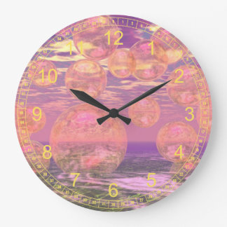 Glorious Skies – Pink and Yellow Dream Abstract Wall Clocks
