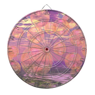 Glorious Skies – Pink and Yellow Dream Abstract Dartboard