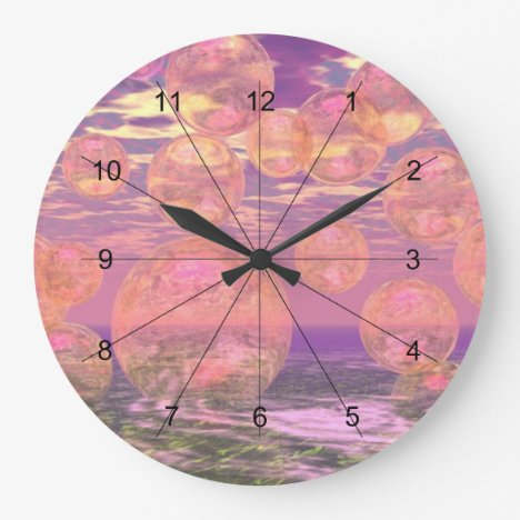 Glorious Skies – Pink and Yellow Dream Abstract Large Clock