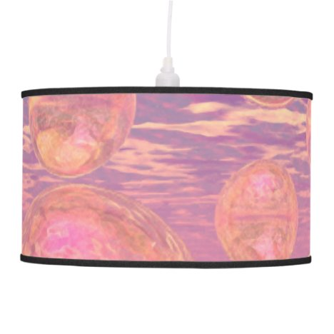 Glorious Skies, Pink and Yellow Dream Abstract Pendant Lamp